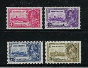 NEWFOUNDLAND SCOTT #226-229 1935 GEORGE V SILVER JUBILEE - MINT NEVER HINGED