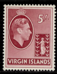 BRITISH VIRGIN ISLANDS GVI SG119a, 5s carmine, M MINT. Cat £20.