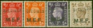 Middle East Forces 1942 SGM1s-M5s Specimen set of 4 V.F MNH