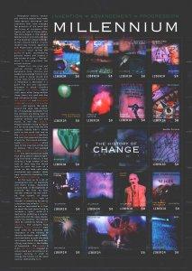 Liberia. 2000. Small sheet 2893-2909. Millennium, scientific discoveries, mag...