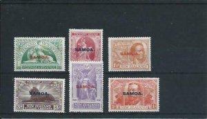 SAMOA 1920 VICTORY SET OF SIX FINE MM SG 143/148 CAT £32