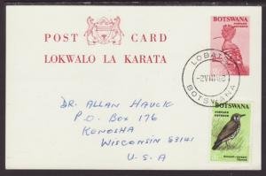 Botswana Bird 1968 Postal Card Pen FDC