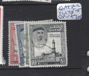 QATAR (P0502BB)  SHEIKH REVALUED  SG 148-151  VFU   VERY SCARCE