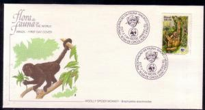 Brazil FDC SC# 1927 Woolly Spider Monkey L112