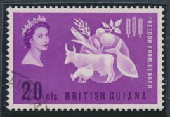 British Guiana SG 349 Fine Used (Sc# 271 see details)  Feeedom from Hunger