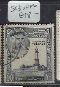 QATAR  (PP1806BB) 10R  SG 37    VFU