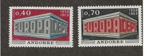 Andorra 188-9 Mint Never Hinged. Set.