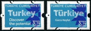 HERRICKSTAMP NEW ISSUES TURKEY Sc.# 3545-46 Discover the Potential