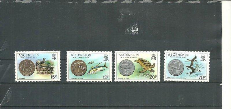 Ascension MNH 355-8 New Coinage & Fauna