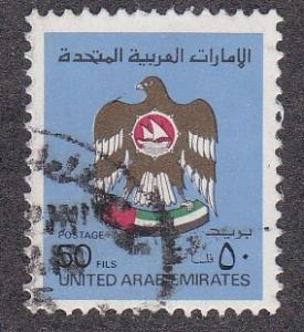 United Arab Emirates # 146A, National Arms, Used, 1/3 Cat.