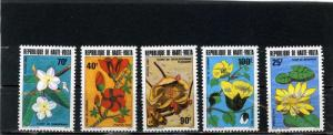 UPPER VOLTA 1982 Sc#601-605 FLORA FLOWERS SET OF 5 STAMPS MNH