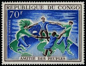 Congo PR C61 MNH Men of Four Races Dancing on Globe