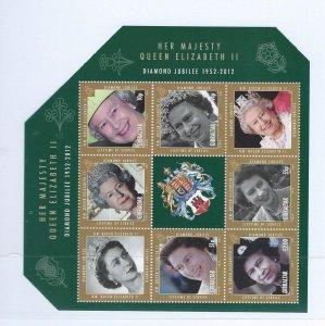Gibraltar souvenir sheet   mnh  sc  1324a