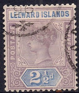Leeward Islands 1890 QV 2 1/2d Mauve & Blue used SG 3 ( A741 )
