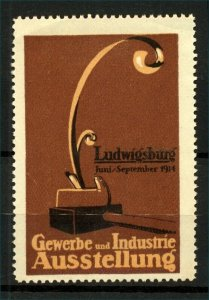Germany 1914 Ludwigsburg Exhibition Label