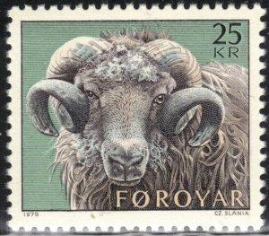 Faroe Islands Scott #42 MNH Slania