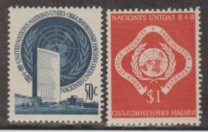 United Nations Scott #10-11 Stamps - Mint NH Set