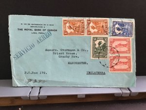 Peru 1934 Royal Bank Canada  stamp cover front    R31867