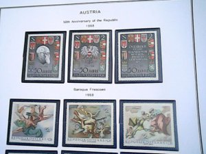 1968-69  Austria  MNH  full page auction