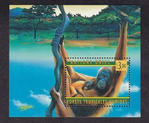 United Nations Geneva  #324   MNH  1998 sheet rain forest  orangutans