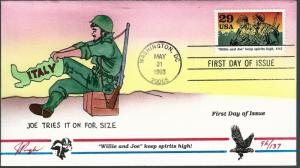 Beautiful Pugh Designed FDC Willie and Joe keep spirits High  #96 of 137