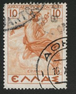 GREECE Scott C35 Used airmail stamp