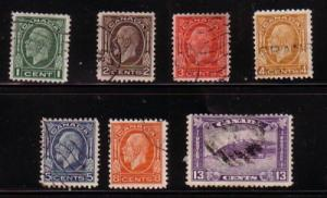 Canada Sc 195-201 1932 G V Medallion stamp set used
