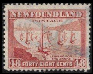 NEWFOUNDLAND 1944 48c #266 PERF 12½ USED FISHING FLEET