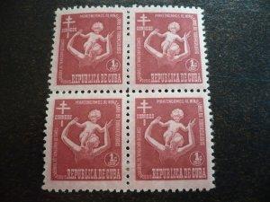 Stamps- Cuba-Scott# RA12-RA15 - Mint Hinged Set of 4 Postal Tax Stamps - Blocks