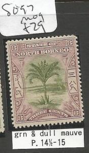 North Borneo SG 97 Tree MOG (4clt)