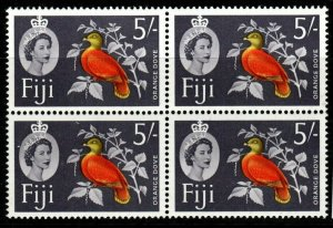 FIJI SG323 1962 5/= DEFINITIVE MNH BLOCK OF 4