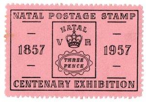 (I.B) Natal Cinderella : Postal Centenary Exhibition (1957)