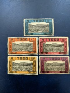 Togo J9-J10,J12-J14 VFMH, CV $1.90