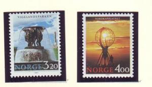 Norway Sc 995-6  1991 Tourism stamps mint NH