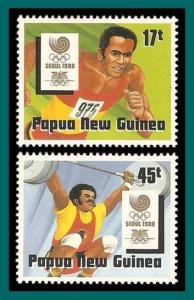Papua New Guinea 1988 Olympic Games, MNH  701-702,SG583-SG584