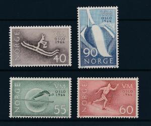 [44774] Norway 1966 Wintersport Ski jumping Cross country MNH