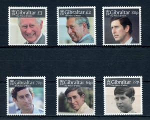 GIBRALTAR  2019  PRINCE CHARLES OF WALES  SET  MINT NEVER HINGED