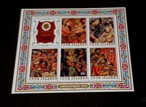 COOK ISLANDS #463a, 1976, CHRISTMAS, SOUVENIR SHEET, MNH, NICE LQQK