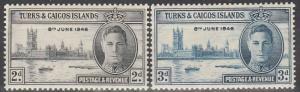 Turks & Caicos #90-1  MNH (S3724)