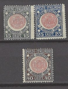 COLLECTION LOT # 2994 ITALY #130-2 MH 1921  CV=$19.50