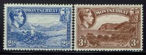 Montserrat SG# 105 & 106 - Mint Hinged - Perf 13 - Lot 032116