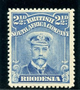 Rhodesia 1913 Admirals 2½d bright blue MLH. SG 208. Sc 123a