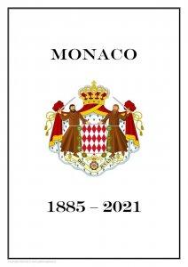 MONACO 1885 - 2021  PDF (DIGITAL) STAMP  ALBUM PAGES  (470 pages)