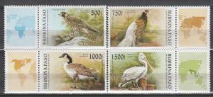 Burkina Faso #1087-90 MNH CV $20.75  (K725)