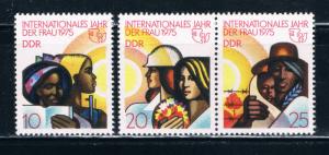 Germany DDR 1620-22 MLH Set Black Women 1975 (G0071)