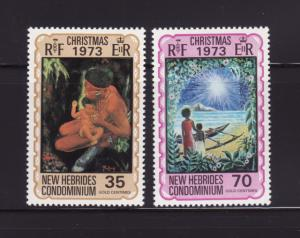 New Hebrides, British 179-180 Set MNH Christmas