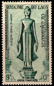 LAOS Scott C9 Buddah statue Airmail stamp