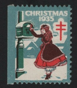 United States 1935 CHRISTMAS SEAL TB CINDERELLA STAMP VF - BARNEYS
