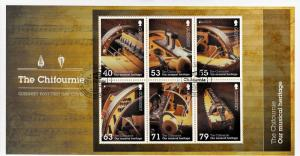Guernsey 2014 FDC National Music Instruments Chifournie 6v M/S Cover Europa