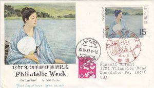 1967, Japan: Philatelic Week, FDC (S18827)